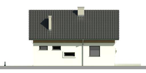 Dom przy Alabastrowej 29 - Elewacja tylna
