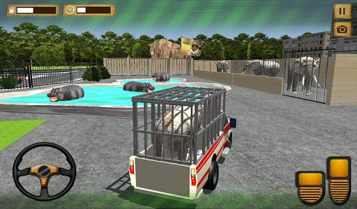 玩免費動作APP|下載動物園の動物交通シミュレータ app不用錢|硬是要APP