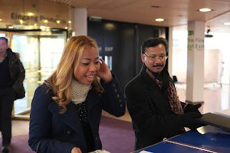 Photo: Arrival of our guests from Malaysia - Nurul Ashiqin Hj Shamsuri and Abdul Jalil Maraicar