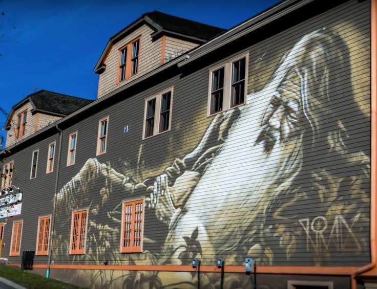 """Nomad's """"Rip Van Winkle"""" Mural. Photo: Tannersville."""