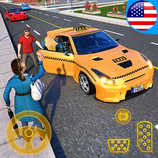 Yellow Cab American Taxi Driver 3D: New Taxi Games