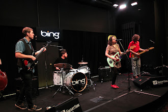 Photo: Sallie Ford & The Sound Outside in the Bing Lounge at 101.9 KINK FM