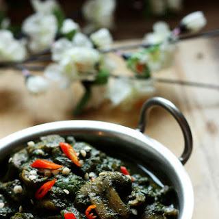 Saag Mushrooms | Palak(Spinach) Mushroom Curry