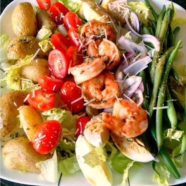 Grilled Shrimp Salad Nicoise
