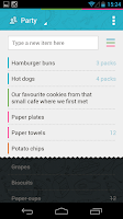 Screenshot of Buy Me a Pie! Grocery List Pro