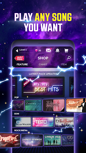 Tap Tap Reborn 2: Popular Songs Rhythm Game  captures d'écran 2
