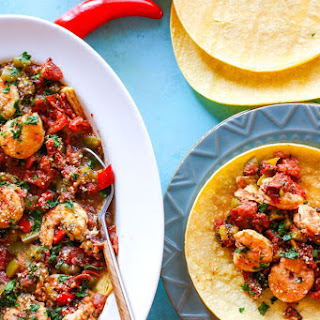 Crock Pot Fire Roasted Shrimp Tacos {Gluten Free}