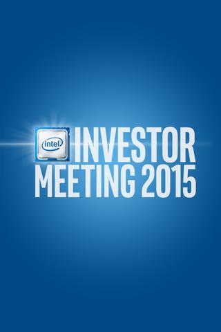 Intel® Investor Meeting