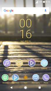 Theme XPERIA ON™ | Be Amber Lollipop - náhled