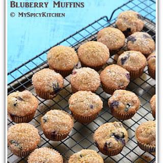 Flax Seed Whole Wheat Blueberry Mini Muffins.