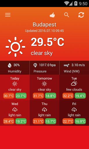 天氣匈牙利