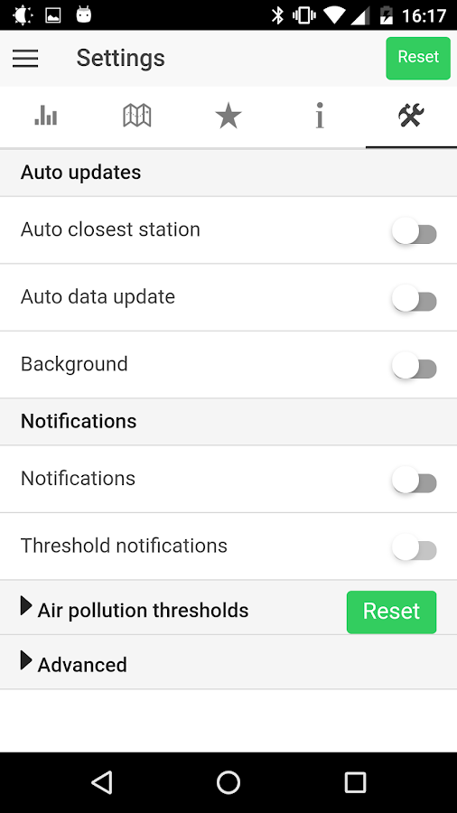 Open Air Quality- screenshot