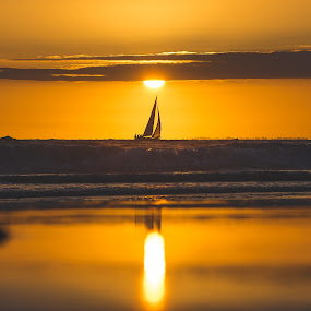 Venice Beach by Corey Gross - Landscapes Sunsets & Sunrises ( venice beach, california, sail, ocean, boat )