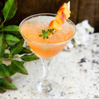 Iced Peach Cocktail