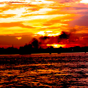 Mekong River by Chivin Doung - Landscapes Sunsets & Sunrises ( mekong river, phnom penh, cambodia )