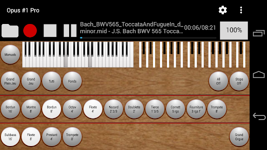Opus #1 Pro - The Midi Organ screenshot 1