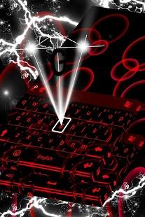 Neonová červená klávesnice - náhled