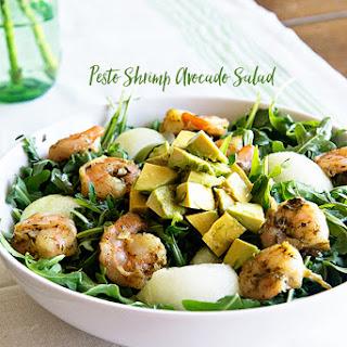 Pesto Shrimp Avocado Salad