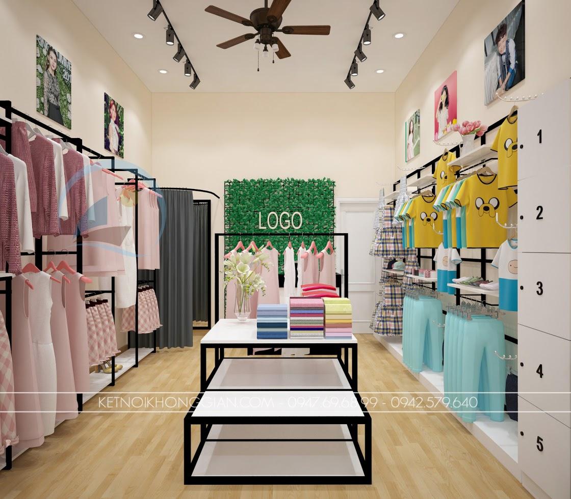 thiết kế shop thời trang sang trọng