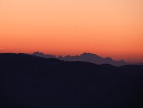 Photo: miraż Tatr - zniekształcenie obrazu w postaci szpiczastych lub spłaszczonych wierzchołków powodują masy powietrza o różnej temperaturze