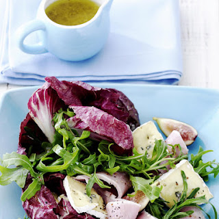 Ham, Cambozola and Fig Salad with Honey Mustard Dressing.