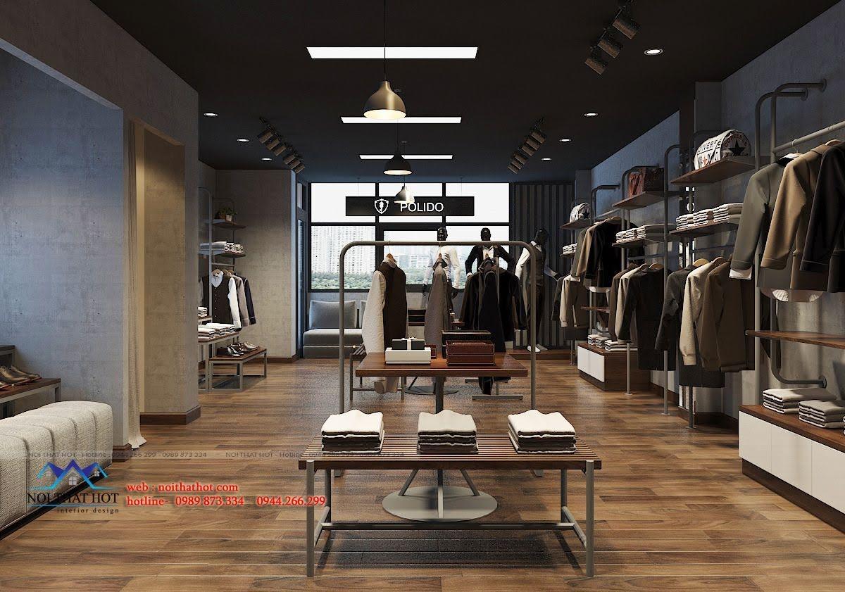 thiết kế shop thời trang nam polido 6