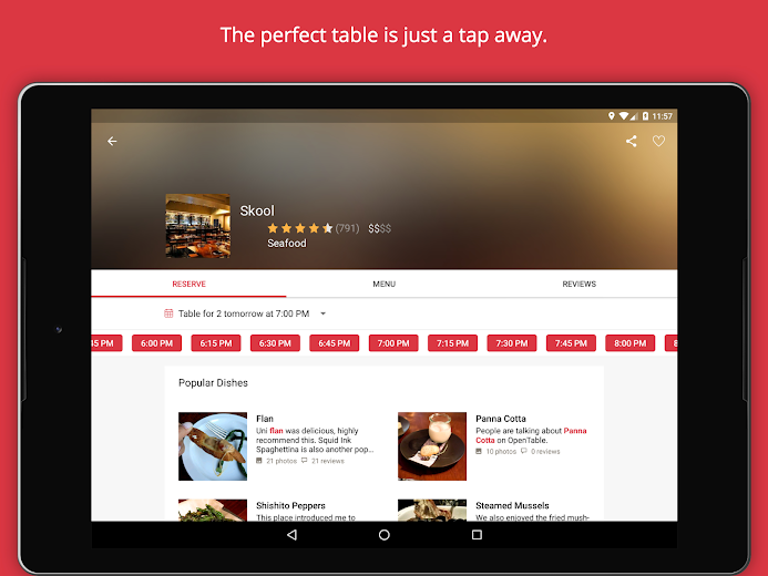 Screenshot 8 for OpenTable's Android app'