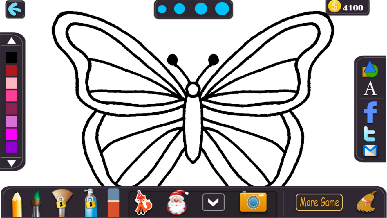kids color fly drawing book screenshot - Color Drawing Book