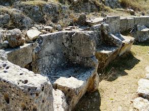Photo: Byllis, VIP seats, Theatre 3rd century BC