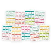 Simple Stories Carpe Diem Planner Mini Stickers - Month Calendar
