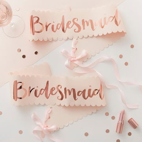 2-pack Ordensband Bridesmaid - Team Bride