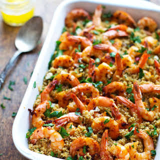 Garlic Butter Shrimp and Quinoa.