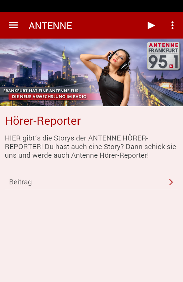 Antenne Frankfurt 95.1- screenshot