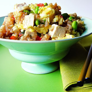 Fried Rice with Scallions, Edamame, and Tofu