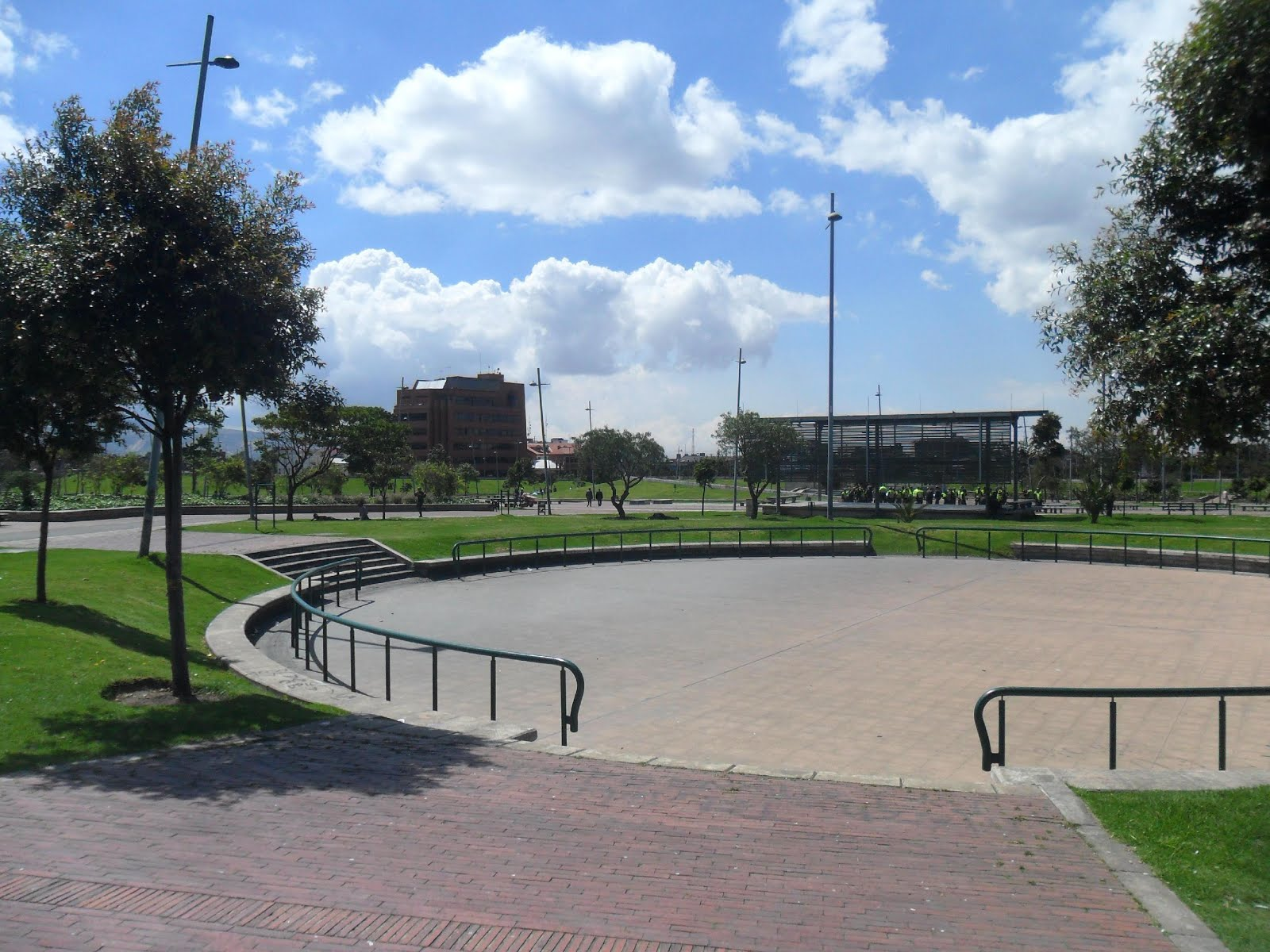 "Bogota, Colombia. Tercer Milenio's park, built over a zone called ""El Cartucho"", controlled by drug dealers"