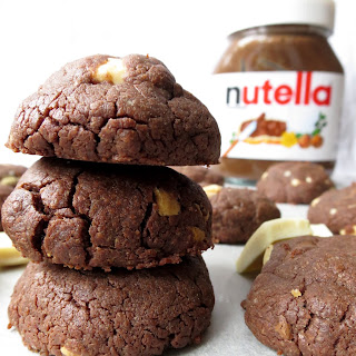 Nutella and White Chocolate Cookies.