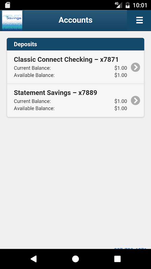 Auburn Savings Mobile Banking- screenshot