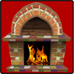 Fireplace : Cozy Fire Icon