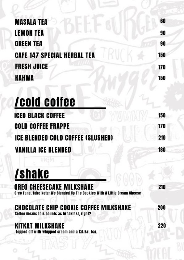 Cafe 147 menu 8