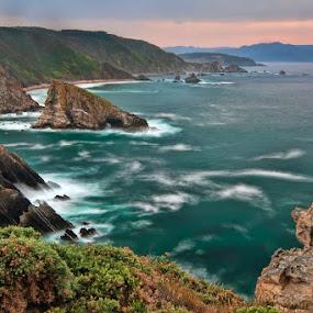 Emerald Sea by Jose María Gómez Brocos - Landscapes Waterscapes ( emerald, sea, landscape, cost, rocks )
