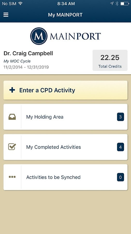 MAINPORT Mobile App- screenshot