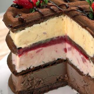 Waffle Ice Cream Cake.