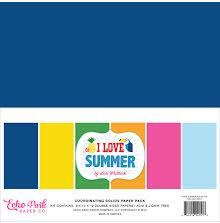 Echo Park Double-Sided Solid Cardstock 12X12 6/Pkg - I Love Summer UTGÅENDE