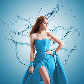 Girl on Water Splash by Abdul Aziz - Digital Art People ( indonesia, digital art, art, people, photography, manipulation )