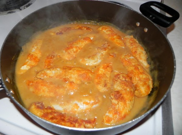 Or you can set aside the fried chicken and place into your sauce after...