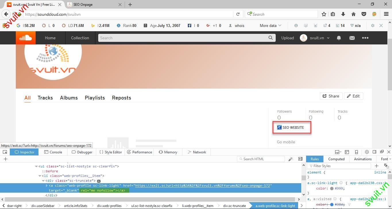 Backlink trên soundcloud.com(9)