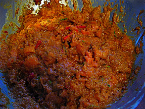 Photo: curried salmon mixture