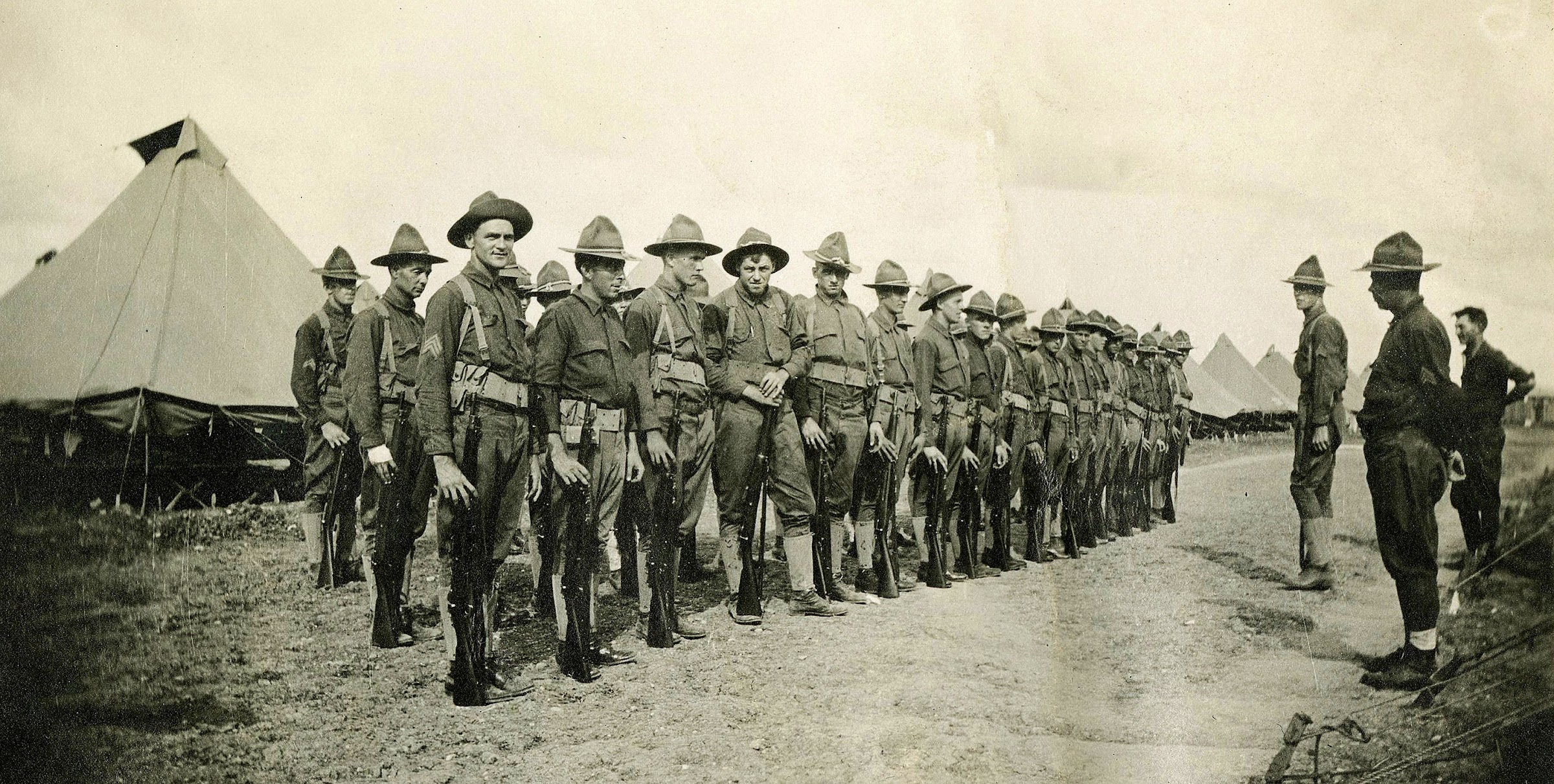 1917: National Guard units protected U.S. border