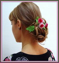 Photo: Нежный букетик японских цветочков в волосы и вы неотразимы...модная замена надоевшим заколкам