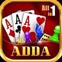 Adda : Rummy , 29 card game , 3 Patti , CallBreak icon
